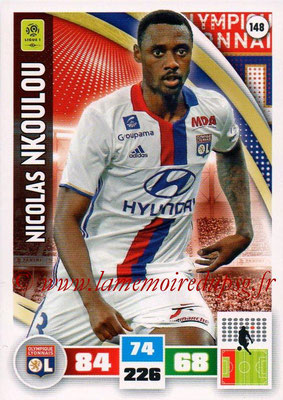2016-17 - Panini Adrenalyn XL Ligue 1 - N° 148 - Nicolas NKOULOU (Lyon)
