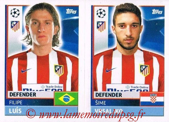 2016-17 - Topps UEFA Champions League Stickers - N° ATL 6-7 - Sime VRSALJKO + Filipe LUIS (Club Atletico de Madrid)