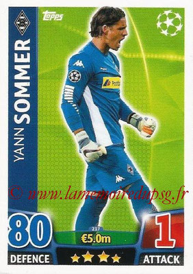 2015-16 - Topps UEFA Champions League Match Attax - N° 217 - Yann SOMMER  (VfL Borussia Mönchengladbach)