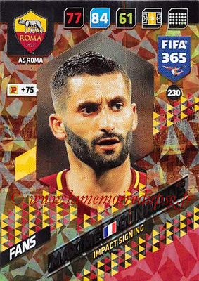 2017-18 - Panini FIFA 365 Cards - N° 230 - Maxime GONALONS (AS Roma) (Impact Signing)