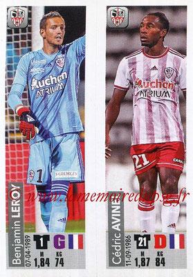 2018-19 - Panini Ligue 1 Stickers - N° 514 - Benjamin LEROY + Cedric AVINEL (AC Ajaccio)