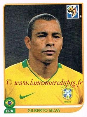 2010 - Panini FIFA World Cup South Africa Stickers - N° 496 - Gilberto SILVA (Brésil)