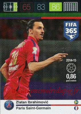 2015-16 - Panini Adrenalyn XL FIFA 365 - N° 214 - Zlatan IBRAHIMOVIC (Paris Saint-Germain) (Goal Machine)