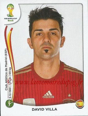 2014 - Panini FIFA World Cup Brazil Stickers - N° 125 - David VILLA (Espagne)