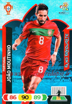 Panini Euro 2012 Cards Adrenalyn XL - N° 268 - Joao MOUTINHO (Portugal) (Fans' Favourite)