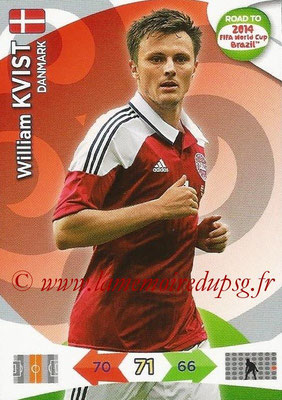 2014 - Panini Road to FIFA World Cup Brazil Adrenalyn XL - N° 040 - William KVIST (Danemark)