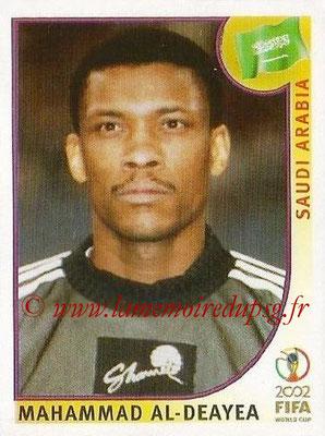 2002 - Panini FIFA World Cup Stickers - N° 333 - Mahammad AL-DEAYEA (Arabie Saoudite)