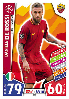 2017-18 - Topps UEFA Champions League Match Attax - N° 388 - Daniele DE ROSSI (AS Roma)