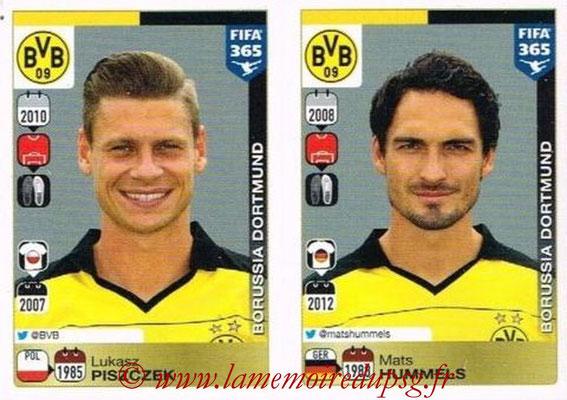 2015-16 - Panini FIFA 365 Stickers - N° 496-497 - Lukasz PISZCZEK + Mats HUMMELS (Borussia Dortmund)
