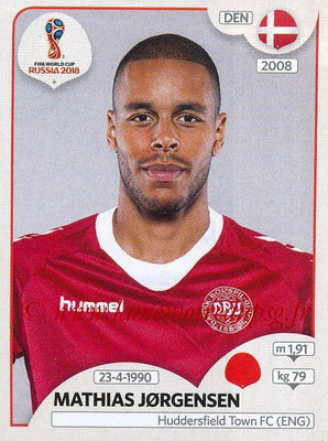 2018 - Panini FIFA World Cup Russia Stickers - N° 259 - Mathias JORGENSEN (Danemark)