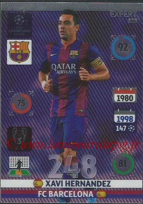 2014-15 - Adrenalyn XL champions League N° 334 - Xavi HERNANDEZ (FC Barcelone) (Expert)