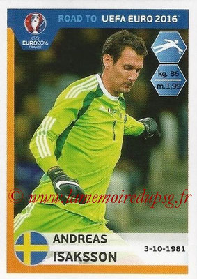 Panini Road to Euro 2016 Stickers - N° 337 - Andreas ISAKSSON (Suède)