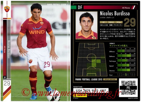 Panini Football League 2013 - PFL01 - N° 037 - Nicolas Burdisso ( AS Roma )
