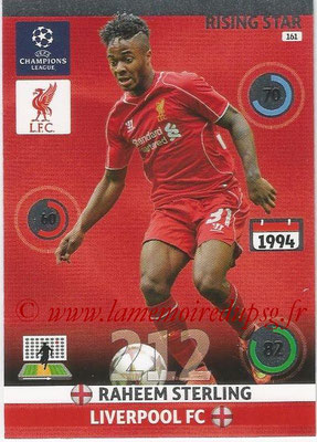 2014-15 - Adrenalyn XL champions League N° 161 - Raheen STERLING (Liverpool FC) (Rising star)