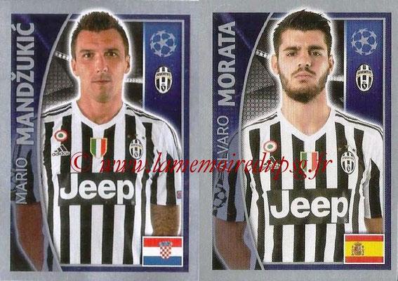 2015-16 - Topps UEFA Champions League Stickers - N° 247 - Mario MANDZUKIC + Alvaro MORATA (Juventus FC)