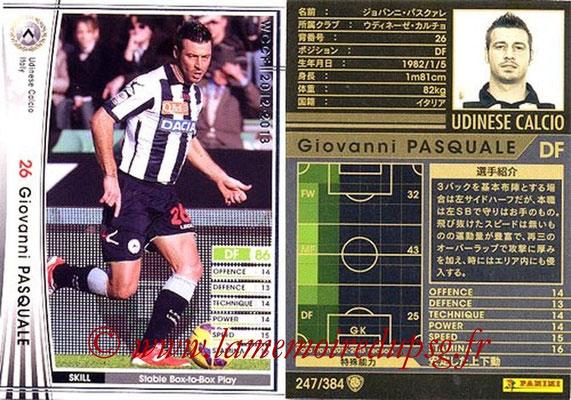 2012-13 - WCCF - N° 247 - Giovanni PASQUALE (Udinese  Calcio)
