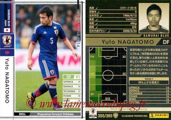 2013-14 - WCCF - N° 355 - Yuto NAGATOMO (Japon)