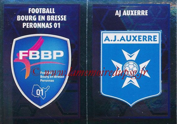2017-18 - Panini Ligue 1 Stickers - N° 544 - Ecussons AJ Auxerre + Bourg en Bresse