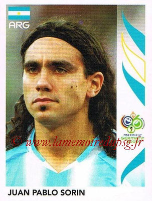2006 - Panini FIFA World Cup Germany Stickers - N° 182 - Juan Pablo SORIN (Argentine)
