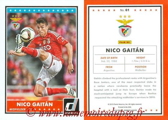2015 - Panini Donruss Soccer - N° 061 - Nico GAITAN (SL Benfica)