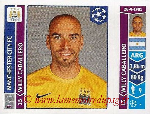 2014-15 - Panini Champions League N° 374 - Willy CABALLERO (Manchester City FC)