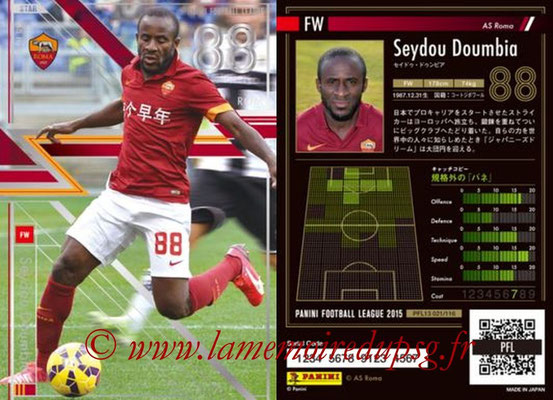 Panini Football League 2015 - PFL13 - N° 021 - Seydou DOUMBIA (AS Roma) (Star)