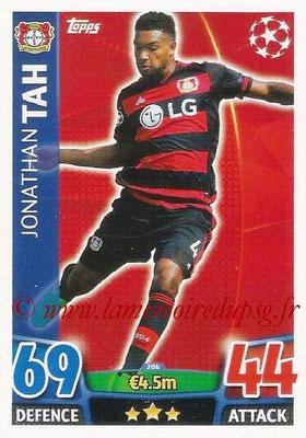 2015-16 - Topps UEFA Champions League Match Attax - N° 206 - Jonathan TAH (Bayer 04 Leverkusen)