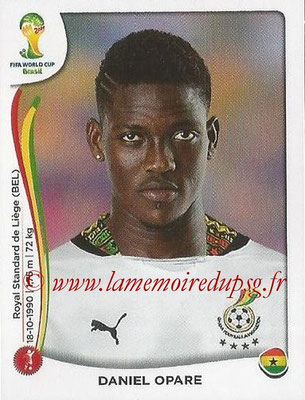 2014 - Panini FIFA World Cup Brazil Stickers - N° 531 - Daniel OPARE (Ghana)