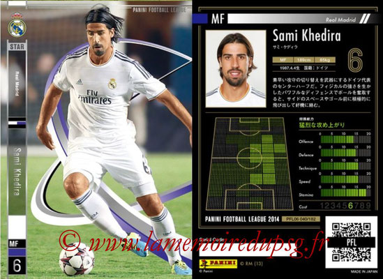 Panini Football League 2014 - PFL06 - N° 040 - Sami KHEDIRA (Real Madrid CF) (Star)