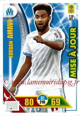 2017-18 - Panini Adrenalyn XL Ligue 1 - N° 158bis - Jordan AMAVI (Marseille) (Mise à jour)