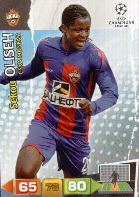 2011-12 - Panini Champions League Cards - N° 102 - Sekou OLISEH (CSKA Moscou)