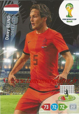 2014 - Panini FIFA World Cup Brazil Adrenalyn XL - N° 255 - Daley BLIND (Pays-Bas)
