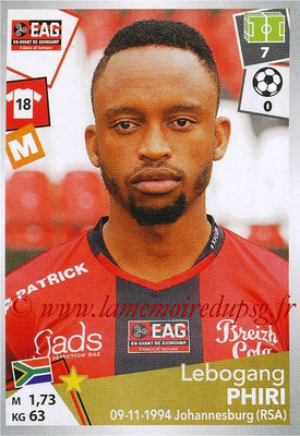 2017-18 - Panini Ligue 1 Stickers - N° 145 - Lebogang PHIRI (Guingamp)