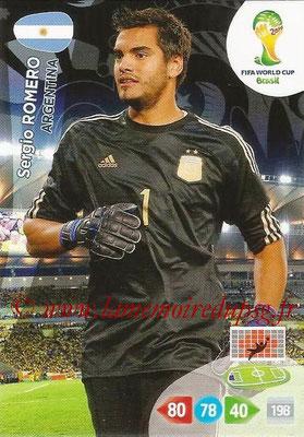 2014 - Panini FIFA World Cup Brazil Adrenalyn XL - N° 008 - Sergio ROMERO (Argentine)