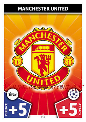 2017-18 - Topps UEFA Champions League Match Attax - N° 145 - Logo Manchester United (Club Badge)