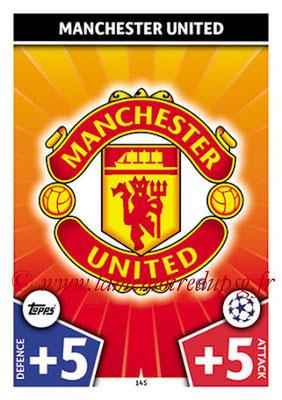 2017-18 - Topps UEFA Champions League Match Attax - N° 145 - Logo Manchester United (Club Badge)
