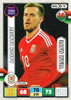 2018 - Panini Road to FIFA World Cup Russia Adrenalyn XL - N° WAL15 - Aaron RAMSEY (Pays de Galles)