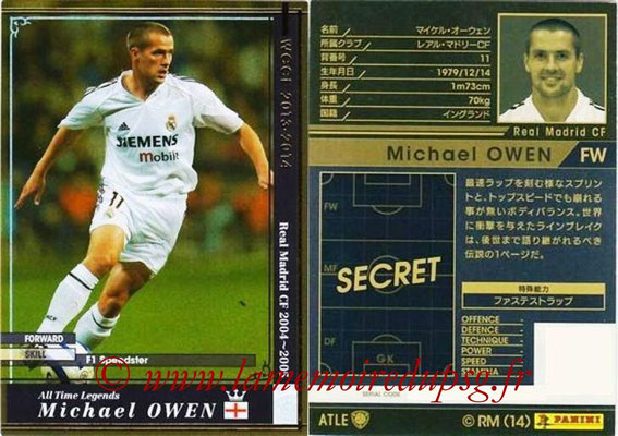 2013-14 - WCCF - N° ATLE11 - Michael OWEN (Real Madrid CF) (All Time Legend)