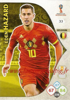 2018 - Panini FIFA World Cup Russia Adrenalyn XL - N° 033 - Eden HAZARD (Belgique)