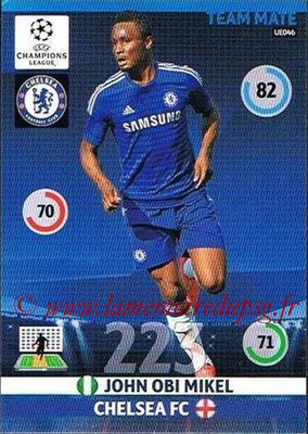 2014-15 - Adrenalyn XL champions League Update edition N° UE046 - John OBI MIKEL (Chelsea FC)