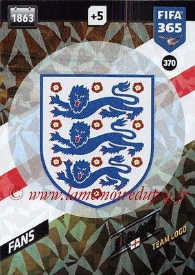 2017-18 - Panini FIFA 365 Cards - N° 370 - Logo Angleterre (Team Logo)