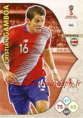 2018 - Panini FIFA World Cup Russia Adrenalyn XL - N° 066 - Cristian GAMBOA (Costa Rica)
