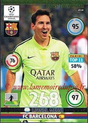 2014-15 - Adrenalyn XL champions League Update edition N° UE118 - Lionel MESSI (FC Barcelone) (Fans' Favourite)