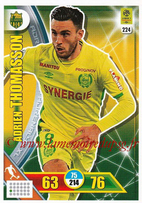 2017-18 - Panini Adrenalyn XL Ligue 1 - N° 224 - Adrien THOMASSON (Nantes)