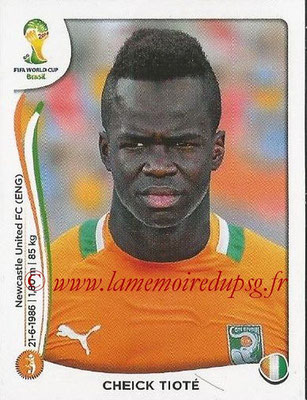 2014 - Panini FIFA World Cup Brazil Stickers - N° 232 - Cheick TIOTE (Côte d'Ivoire)