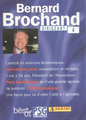 N° 004 - Bernard BROCHAND (Verso)