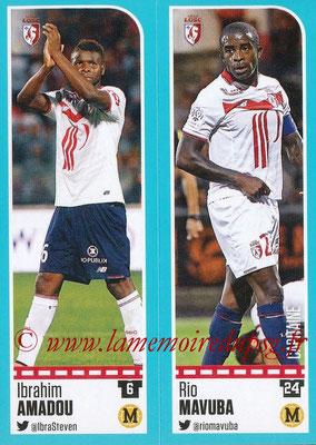 2016-17 - Panini Ligue 1 Stickers - N° 266 + 267 - Ibrahim AMADOU + Rio MAVUBA (Lille)