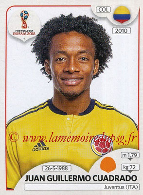 2018 - Panini FIFA World Cup Russia Stickers - N° 641 - Juan Guillermo CUADRADO (Colombie)