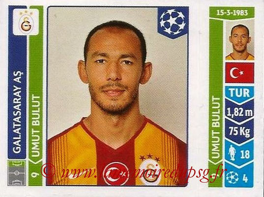 2014-15 - Panini Champions League N° 306 - Ulmut BULUT (Galatasaray AS)