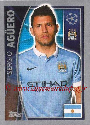 2015-16 - Topps UEFA Champions League Stickers - N° 260 - Sergio AGUERO (Manchester City FC)